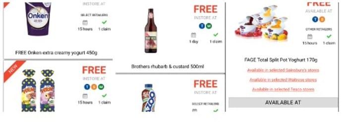 Free Chocolate Brioche, Yoghurt, Cider, Milkshake