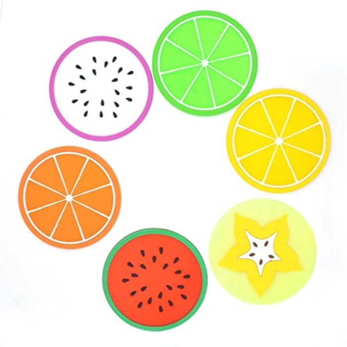 Heat Resistant 6 Piece Fruit Coaster Set