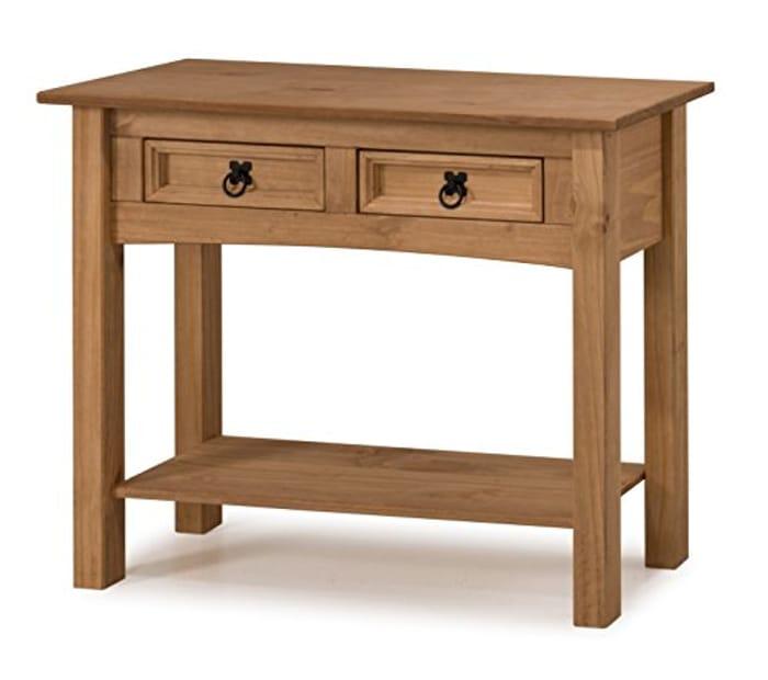 Furniture Corona 2-Drawer Console Table - Pine