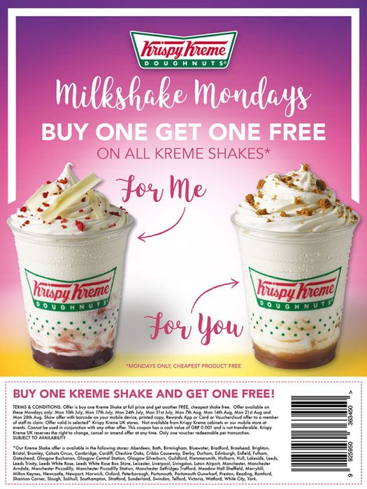 Buy One Get One Free on Mondays