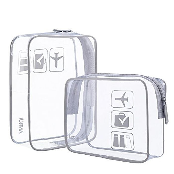 40% off Clear Beauty Bag for Flying (Perfect Size)