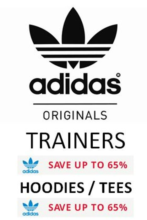 Adidas Originals Awesome Deals. save up to 65% on Trainers, Hoodies, Tees Etc
