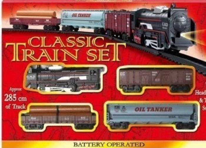 Train Set with Tracks Battery Operated Classic Train Set