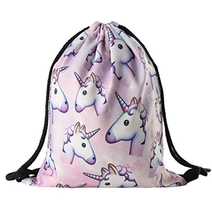 Unicorn Pattern Drawstring Gym Bag