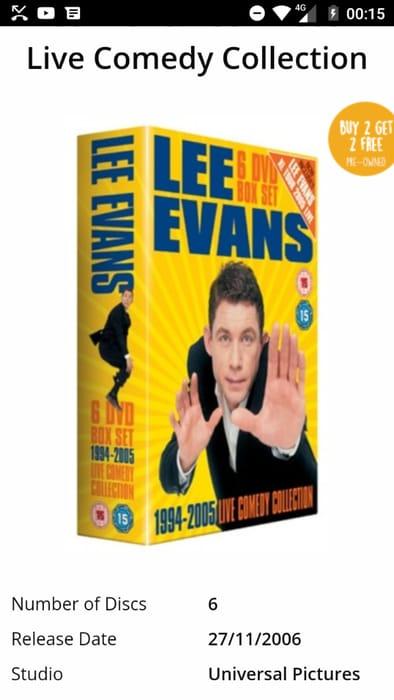 Lee Evans Box Set Free Delivery