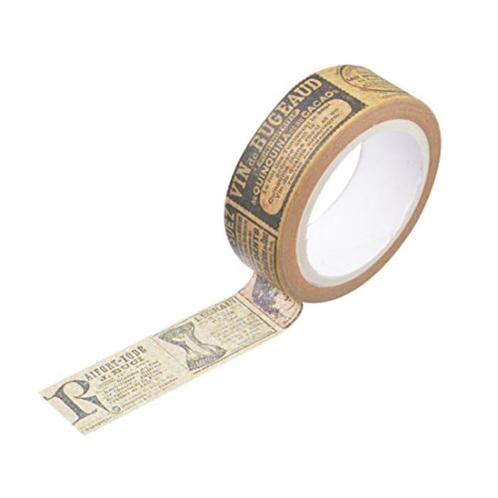 Vintage Newspaper Masking Adhesive Decor Tape