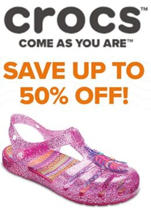 Half Price Crocs + Free Delivery