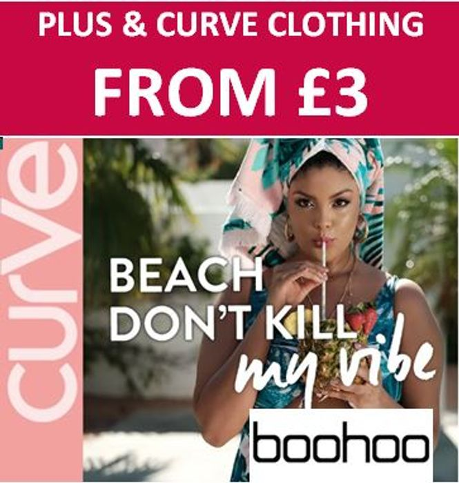 WOMEN'S plus & CURVE CLOTHING from Just £3 at BOOHOO