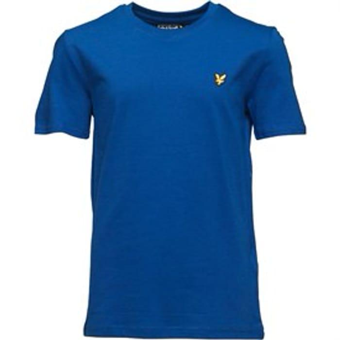 Lyle and Scott Boys Marl Tshirt Duke Blue