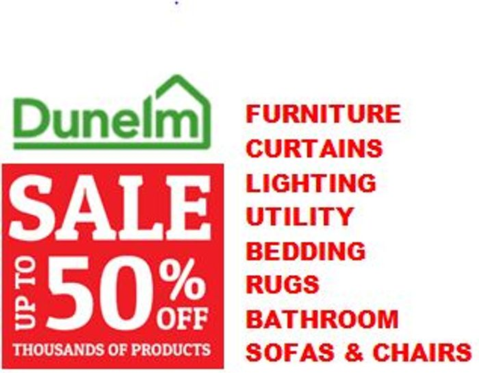 Dunelm Sale - 50% off Loads of Homewares