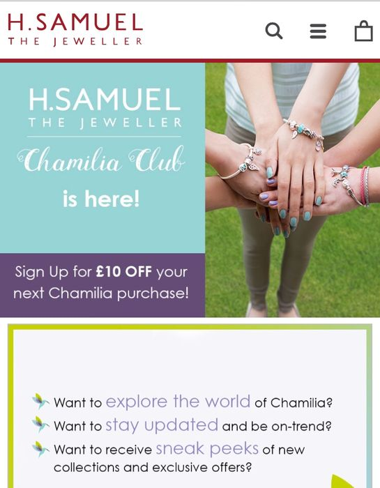 Free £10 Spend at H Samuel (Free Bracelet Charm)
