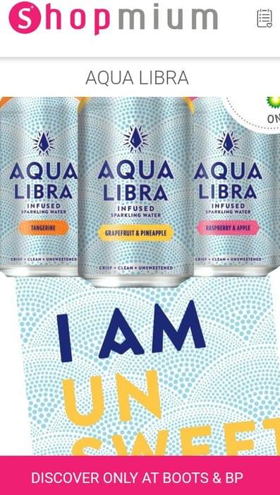 Free Aqua Libra 330ml Drinks at Boots & BP Garages