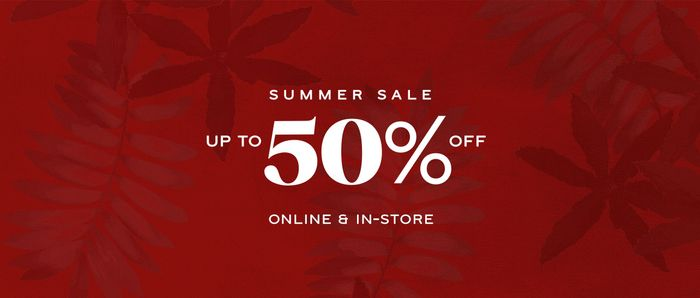 Up to 50% off at Reiss