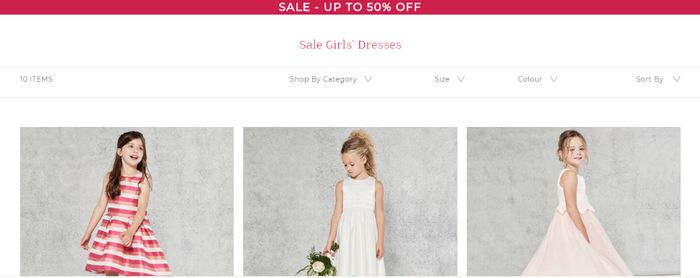 Up to 45% off Selected Girl's Dresses at Coast