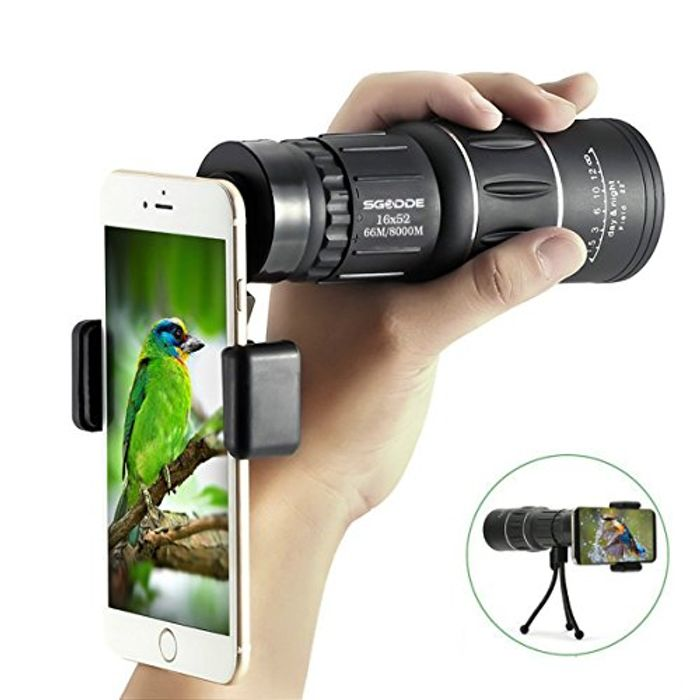 Super Clear 16x52 Monocular Telescope
