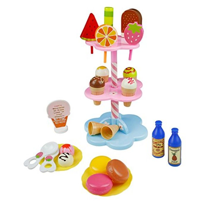 Desserts & Ice Cream Lolly Stand & Free Magnetic Puzzle Board