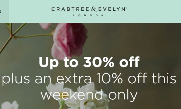 Good Deals This Weekend at CRABTREE & EVELYN