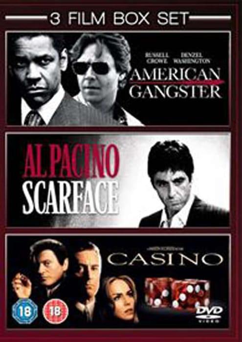 American Gangster / Scarface / Casino DVD Box Set