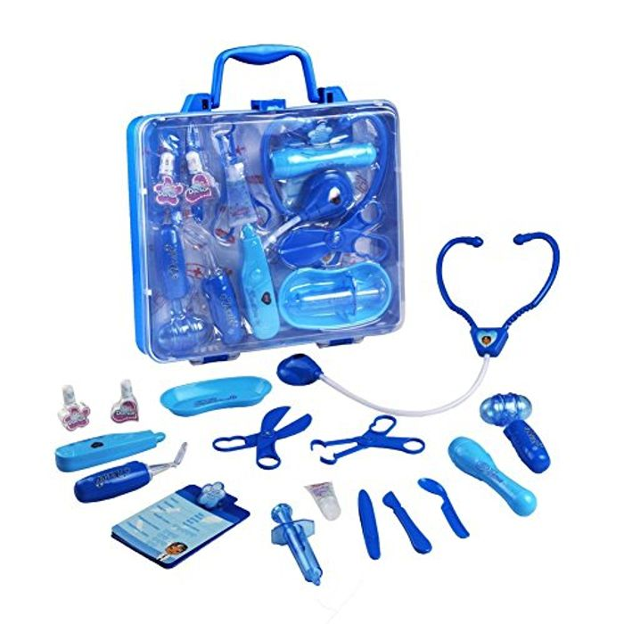 Doctors Set Game Medical Carrycase Role Play Pretend Toys for Kids over 3