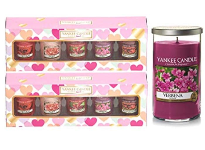 2 X Yankee Candle Votive Gift Sets + Verbena Medium Pillar Candle