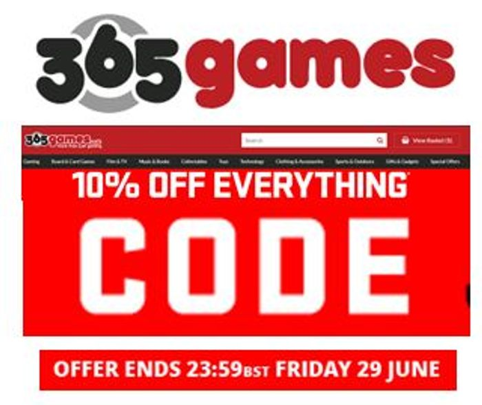 HURRY! 10% off Huge Variety of Video Games & Accessories with Code