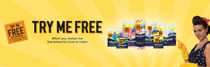 'Try Me Free' Marigold Cloth or Scourer