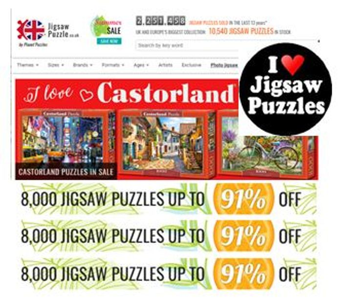 Up to 91% off Jigsaw Puzzles - the UK's Largest Collection