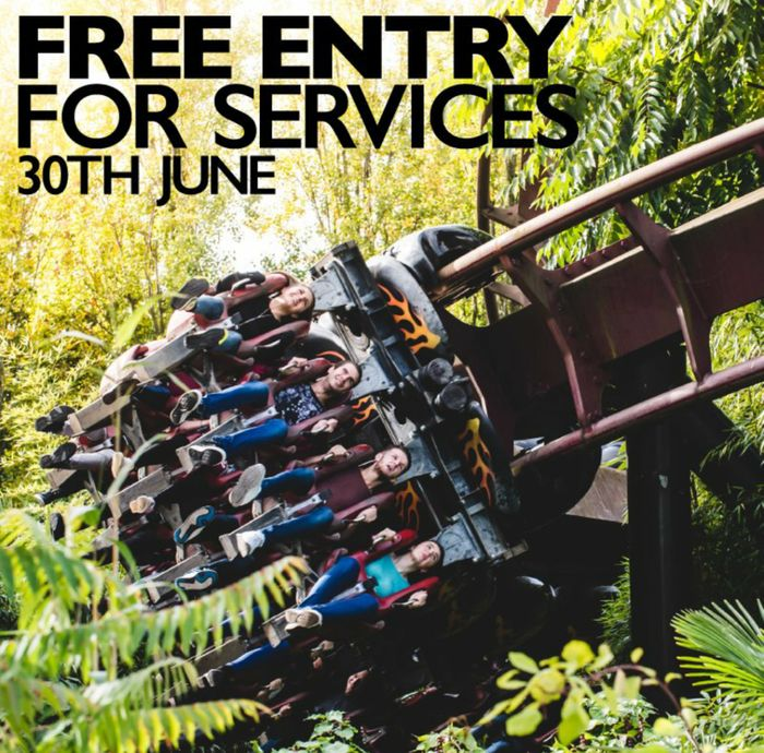 Free Entry for Armed Forces Tomorrow at Thorpe Park (Sat 30th June)