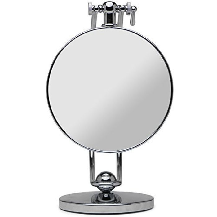 Height Adjustable 7-Inch Doubled Sided Vanity Mirror