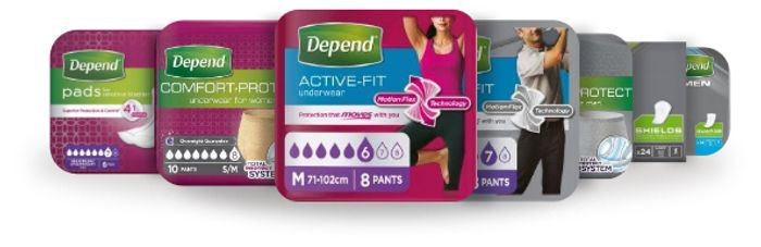 Depend Incontinence Pads