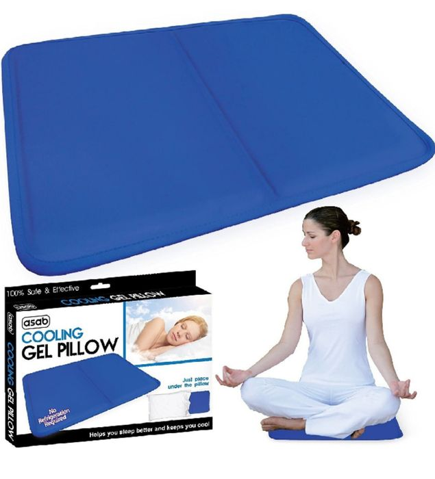 Cooling Gel Pillow for Relief of Migraine Headache, Night Sweat, Fever -