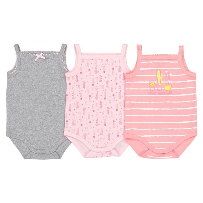 BARGAIN!!! Sleeveless Cotton Bodysuits Pack of 3