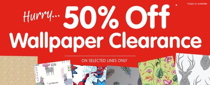 50 Off Wallpaper Clearance At B M Latestdeals Co Uk