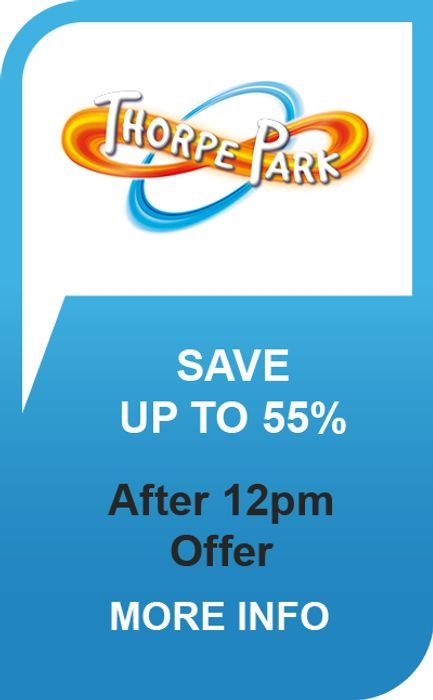 Get 55% off Thorpe Park Tickets