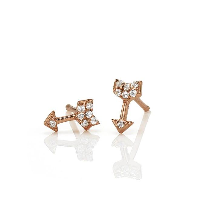 Aim High Rosy Stud Earrings