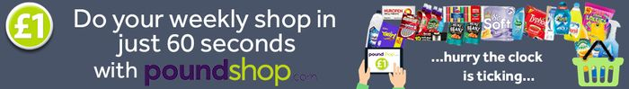 Free Shipping on Orders over £40 at Poundshop