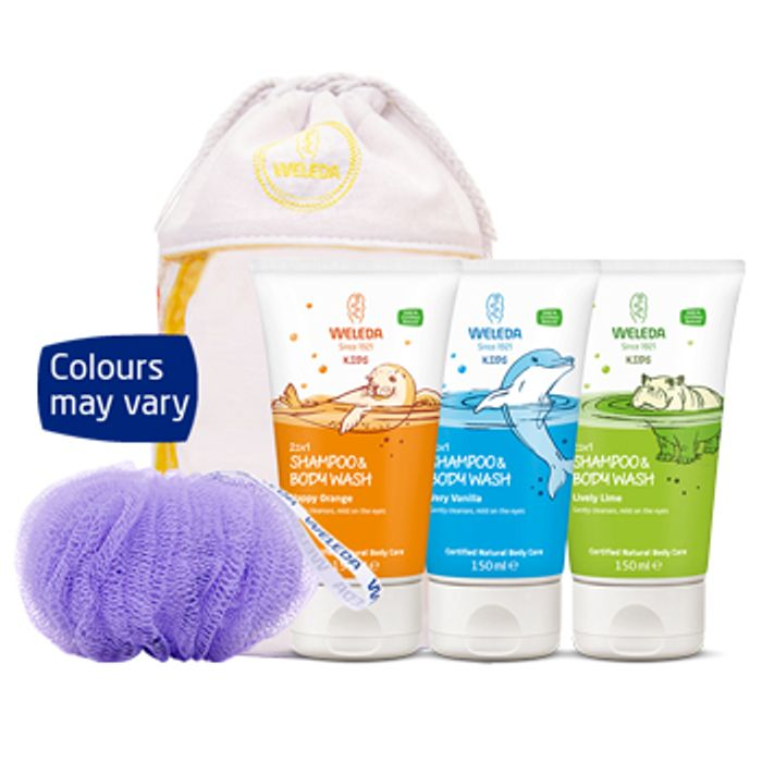 FREE Wash Bag and Scrunchie Simply Add Any Two Kids 2in1 to Your Basket