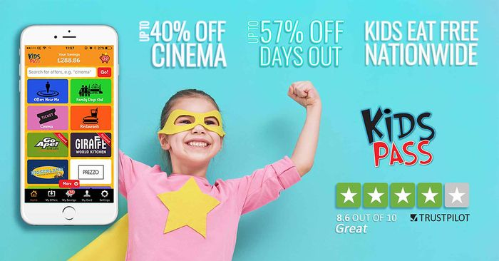 £1 Kids Pass for 30 Days.