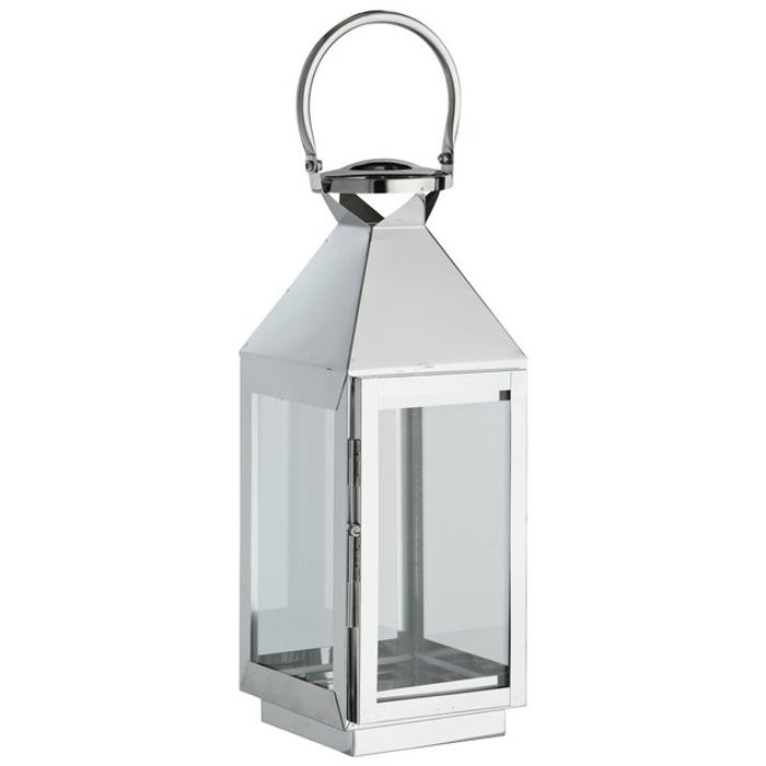 Silver Garden Lanterns - Set of 2