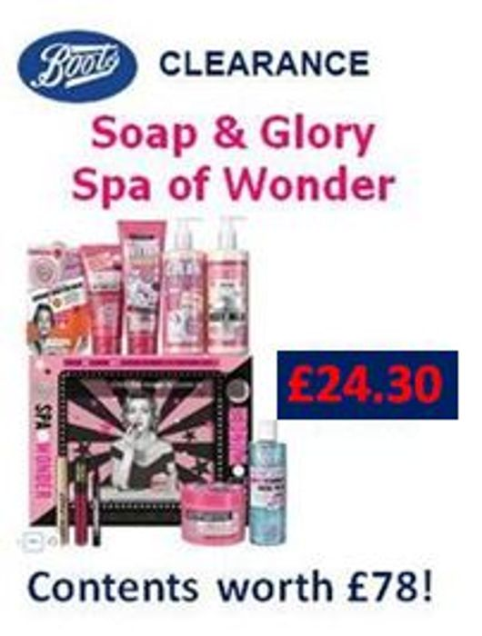 NOW £24.30! Soap & Glory Spa of Wonder at Boots (Contents worth £78!)
