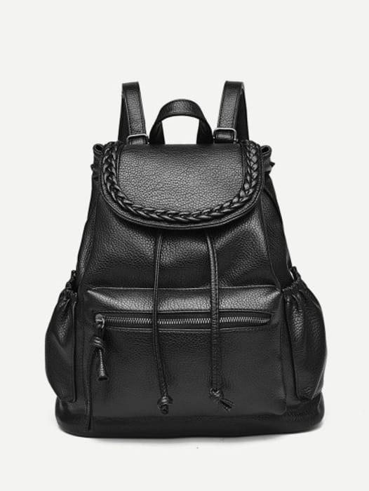 Braided Detail PU Backpack