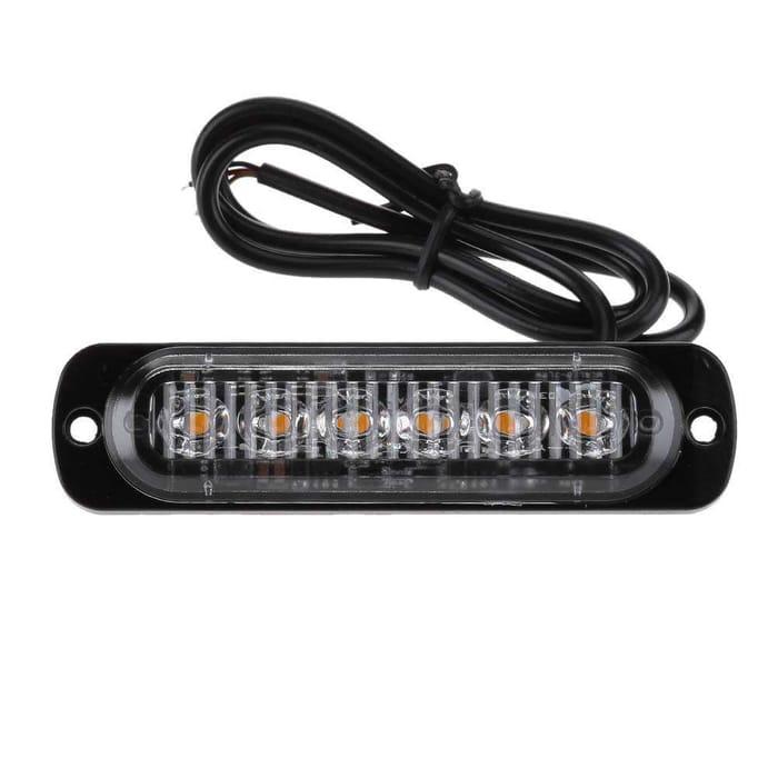 12-24V 6LED Slim Flash Light Bar Car Vehicle Emergency Warning Strobe Light