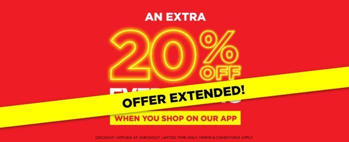 Extra 20% off Extended Promotion
