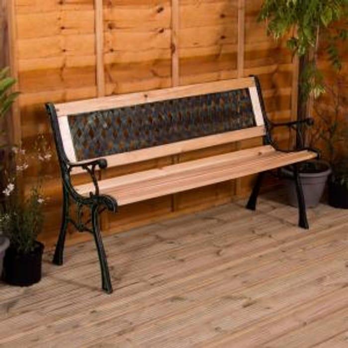 3 Seater Wooden Garden Bench (2 Designs) Only £27.60