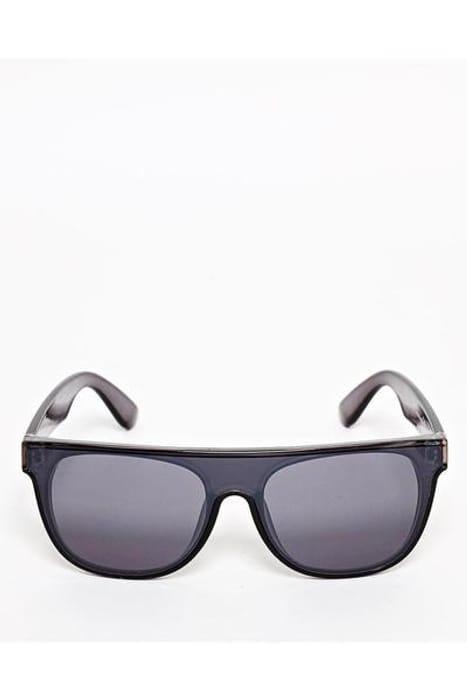 Oversized Flat Top Black Sunglasses