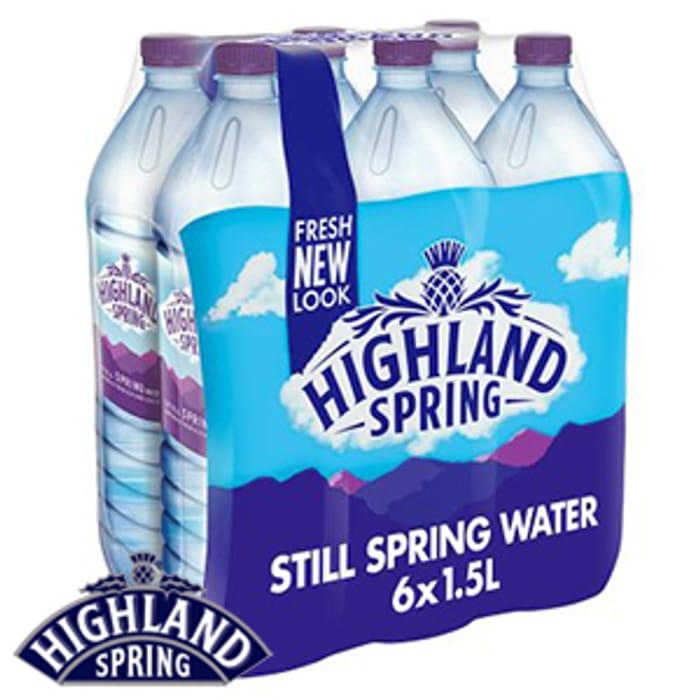 Highland Still Spring Water (6 X 1.5L Bottles)