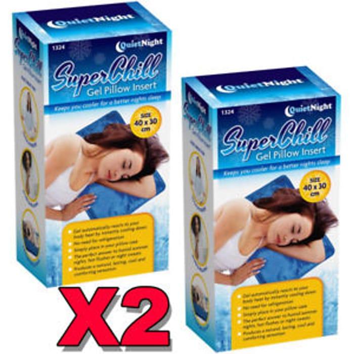 2 X Magic Cool Cooling Gel Pad Pillow Cooling Mat Laptop Cushion Yoga Bed Deal
