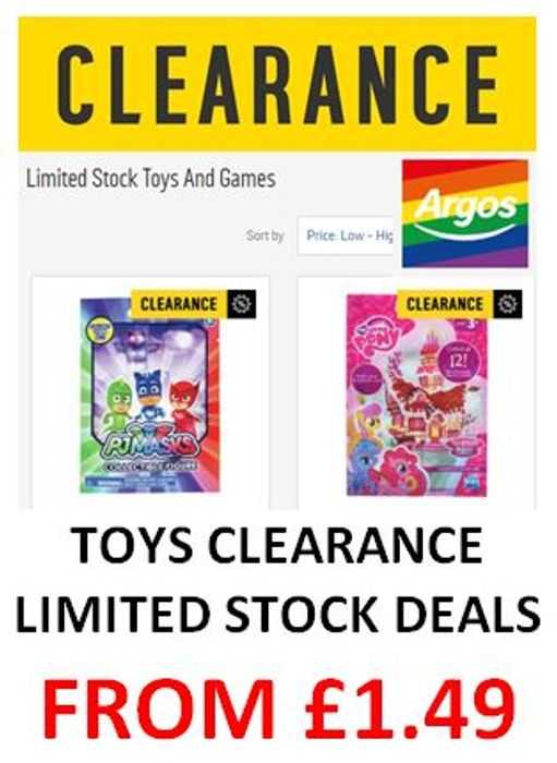 low priced e832c 09df1 ARGOS TOYS CLEARANCE - Limited Stock Toys   Games from £1.49
