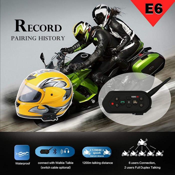 1200m Full Duplex Talking Headset Helmet Bluetooth Intercom, Only £39.99