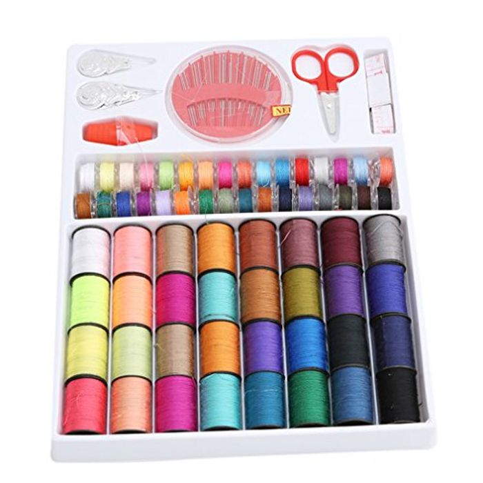 VWH 100 Pcs Sewing Kit Portable Mini Sewing Supplies Accessories Set for Home